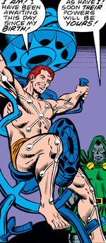 Doctor Doom's Armor, Power Transfer Machine, Victor von Doom, Victor von Doom (Clone) (Earth-616) from Fantastic Four Vol 1 198