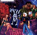 House of Agon (Earth-2301) and Marvin Ellwood (Earth-2301) from Marvel Mangaverse Vol 1 2 Cover