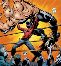 Peter Parker (Earth-1610) and Joseph Hogan (Earth-1610) from Ultimate Spider-Man Vol 1 3 0001