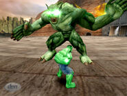Emil Blonksy (Earth-TRN008) and Bruce Banner (Earth-TRN008) from Incredible Hulk Ultimate Destruction 0001