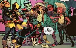 Moon Girl (Earth-616) and X-Babies (Mojoverse) from Moon Girl and Devil Dinosaur Vol 1 24