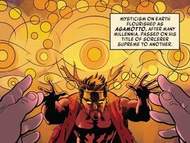 Agamotto (Earth-616) from History of the Marvel Universe Vol 2 1 0001