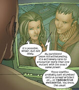 Alice Hayes (Earth-616) and Gene Hayes (Earth-616) from Runaways Vol 1 9 001