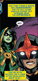 Aracely Penalba (Earth-616) and Samuel Alexander (Earth-616) from New Warriors Vol 5 11