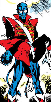 Kurt Wagner (Earth-597) and Kurt Wagner (Earth-616) from Excalibur Vol 1 9 0001