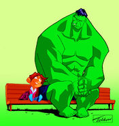 Hulk-girl painted