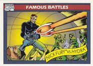 Nicholas Fury vs. HYDRA (Earth-616) from Marvel Universe Cards Series I 0001