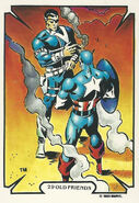 Steven Rogers and Nicholas Fury (Earth-616) from Mike Zeck (Trading Cards) 0001