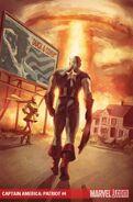 Captain America Patriot Vol 1 4 Textless