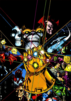 Infinity Gauntlet from Blockbusters of the Marvel Universe Vol 1 1