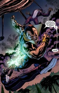 Leslie Dean (Earth-616) and Frank Dean (Earth-616) battling Namor McKenzie (Earth-616) from Iron Man Legacy Vol 1 10 001