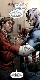 Richard Jones (Earth-616) and Steven Rogers (Earth-616) from Captain America Man Out of Time Vol 1 2 001