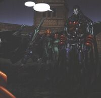 Nathaniel Essex (Earth-295) and Sinister Six (Earth-295) from X-Men Age of Apocalypse Vol 1 5 0001