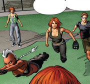 X-Men (Time-Displaced) (Earth-616) and Rachel Summers (Earth-811) from X-Men Gold Vol 2 13 001