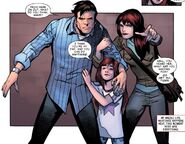Peter Parker, Anna-May Parker and Mary Jane Watson (Earth-18119) from Amazing Spider-Man Renew Your Vows Vol 1 3 0001