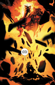 Surtur (Earth-616), Loki Laufeyson (Kid Loki) (Earth-616), and Leah (Loki's creation) (Earth-616) from Journey into Mystery Vol 1 644 0001