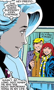 Brian Braddock (Earth-616) and Courtney Ross (Earth-616) from Excalibur Vol 1 2 0001