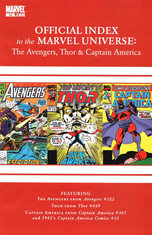 Avengers, Thor & Captain America Official Index to the Marvel Universe Vol 1 10