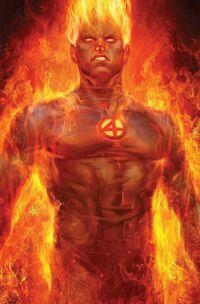 Fantastic Four Vol 6 1 Human Torch Variant Textless