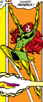 Jean Grey (Earth-82432) and Phoenix Force (Earth-82432) from What If? Vol 1 32 001