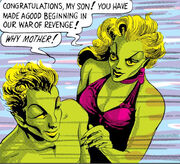 Namor McKenzie (Earth-616) and Fen (Earth-616) from Marvel Comics Vol 1 1 0001