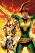 Phoenix Resurrection The Return of Jean Grey Vol 1 1 Green Costume Variant Textless