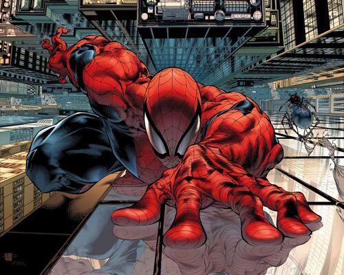 Sensational Spider-Man Vol 2 23 Textless Wrap Around Cover