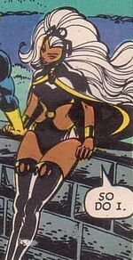 Ororo Munroe (Earth-7642) from Uncanny X-Men and The New Teen Titans Vol 1 1 002