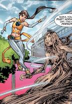 Sofia Mantega (Earth-616) and Sooraya Qadir (Earth-616) from New X-Men Vol 2 6 0001
