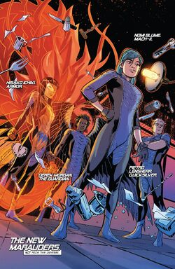 New Marauders (Earth-616) from X-Men Blue Vol 1 4 001