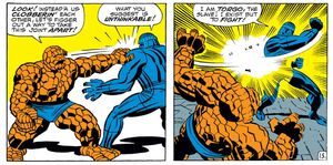 Torgo (Earth-616) and Benjamin Grimm (Earth-616) from Fantastic Four Vol 1 92 0001