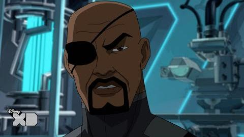 Ultimate Spider-Man - Nick Fury is a Synthezoid? - Official Disney XD UK HD
