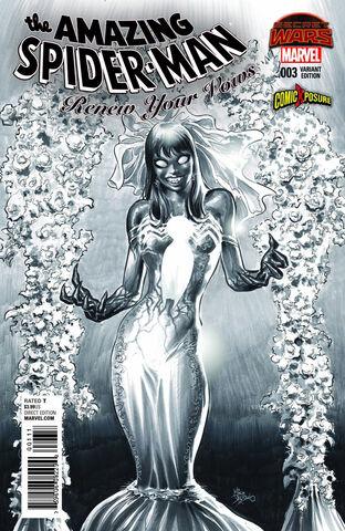 File:Amazing Spider-Man Renew Your Vows Vol 1 3 ComicXposure Exclusive Black & White Variant.jpg