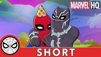 Birthday Fun w Spidey, Black Panther & Shuri! Marvel Super Hero Adventures Obstacle, Of Course