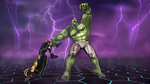 Bruce Banner (Earth-TRN219) and Loki Laufeyson (Earth-TRN219) from Marvel Avengers Battle for Earth 0001