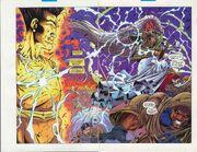 David Haller (Earth-616) vs. the X-Men (Earth-616) from Uncanny X-Men Vol 1 320 0001