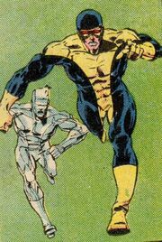 Robert Drake (Earth-616) and Scott Summers (Earth-616) from X-Factor aborted concept from Official Handbook of the Marvel Universe Vol 2 3