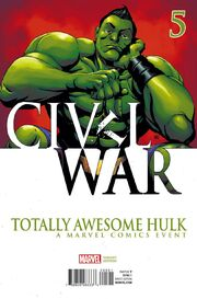 Totally Awesome Hulk Vol 1 5 Civil War Variant
