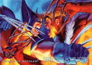 Victor Creed (Earth-616) and James Howlett (Earth-616) from Ultra X-Men (Trading Cards) 1995 Set 001