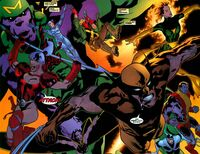 X-Men (Earth-7642) and Wild Covert Action Teams (Earth-7642) from WildC.A.T.s X-Men Vol 1 The Modern Age 001