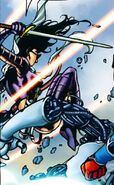 Katherine Bishop (Earth-616) with Hawkeye's Sword from Young Avengers Presents Vol 1 2 001