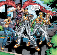 New Mutants Squad (Earth-616) and Joshua Guthrie (Earth-616) from New X-Men Vol 2 6 0001