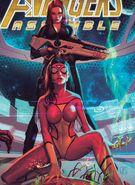 Natalia Romanova (Earth-616) and Jessica Drew (Earth-616) and Avengers Assemble Vol 2 19 (cover)