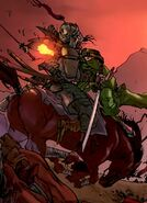 Bei-Ming Tian (Earth-616) vs. Genghis Khan (Earth-616) from Invincible Iron Man Annual Vol 1 1 001