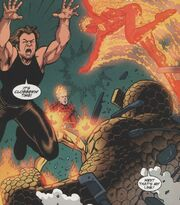 Fantastic Four (Earth-7642) and Gen¹³ (Earth-7642) from Gen¹³ Fantastic Four Vol 1 1 001