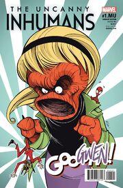 Uncanny Inhumans Vol 1 1.MU Gwensters Unleashed Variant