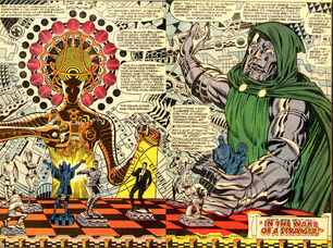 Victor von Doom (Earth-616) and the Prime Mover (Earth-616) from Strange Tales Vol 1 167 0001