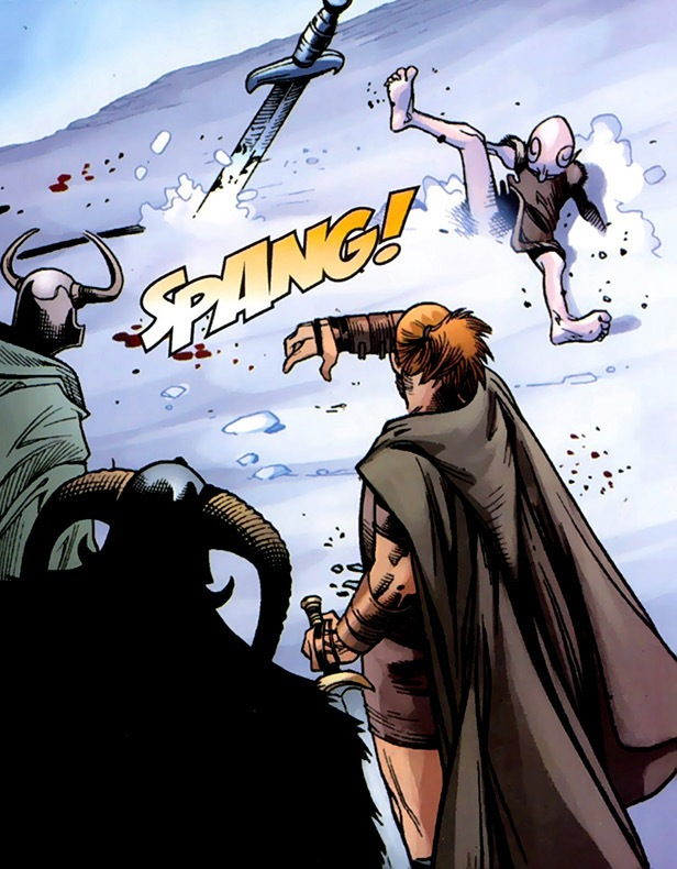 Loki Laufeyson (Earth-616) and Odin Borson (Earth-616) from Thor Vol 3 12 0001