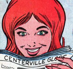 Patricia Walker (Earth-616) with Centerville Globe (Earth-616) from Patsy Walker Vol 1 116