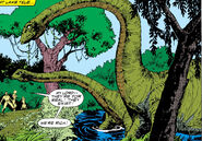 Mokele-Mbembe at Lake Tele from Punisher War Journal Vol 1 7 0001